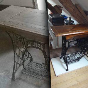 Rénovation/mise en peinture-Machine à coudre Omega