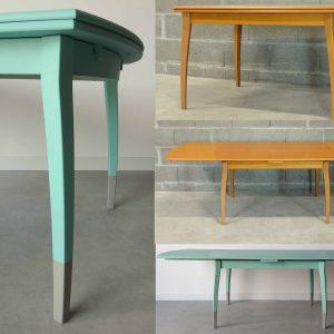 Rénovation-Relooking Table (mélaminé bois)